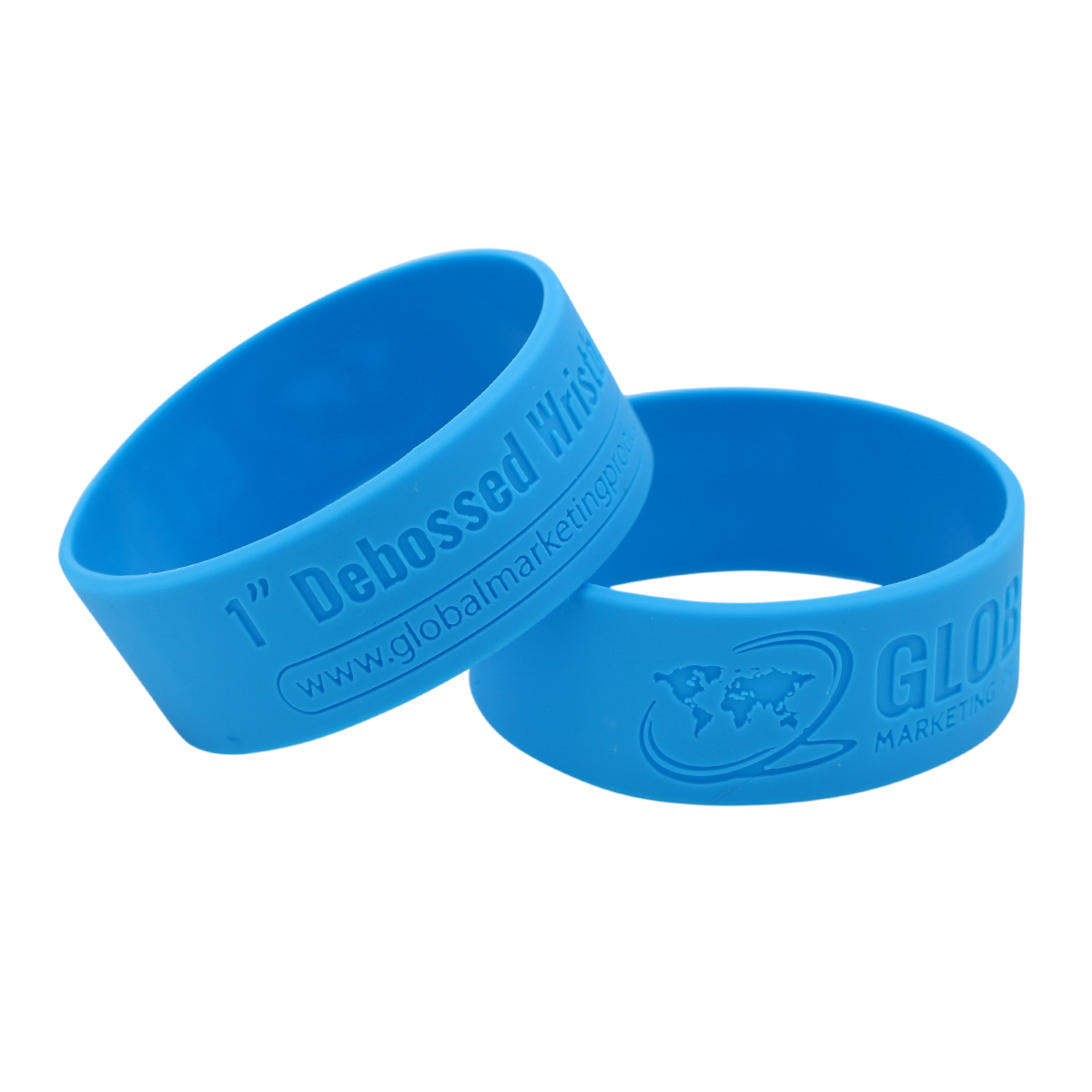 """Debossed Silicone Wristbands - 1"""""""